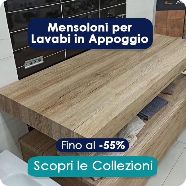 Mensole per Lavabi in Appoggio